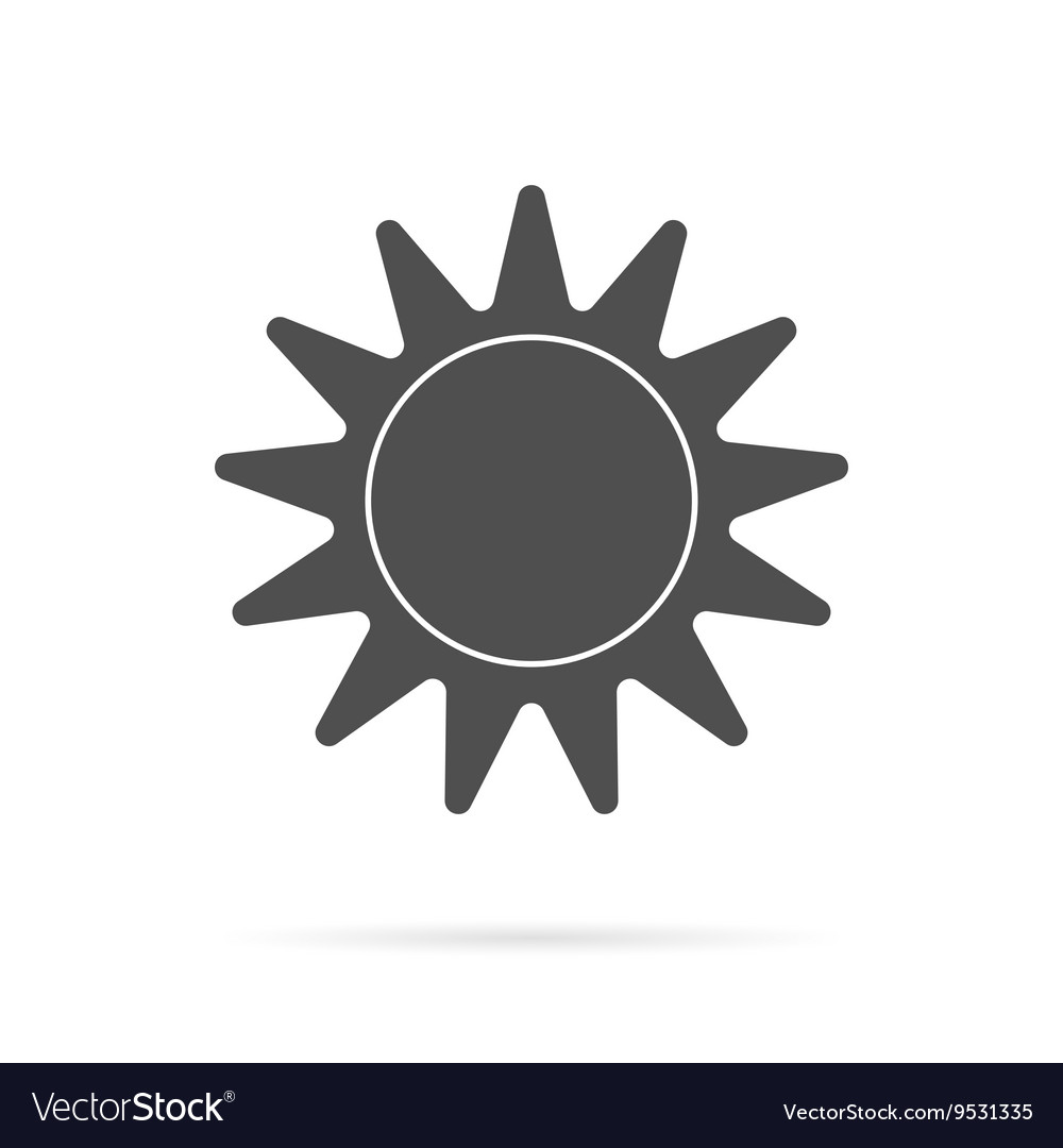 Grey Sun Icon