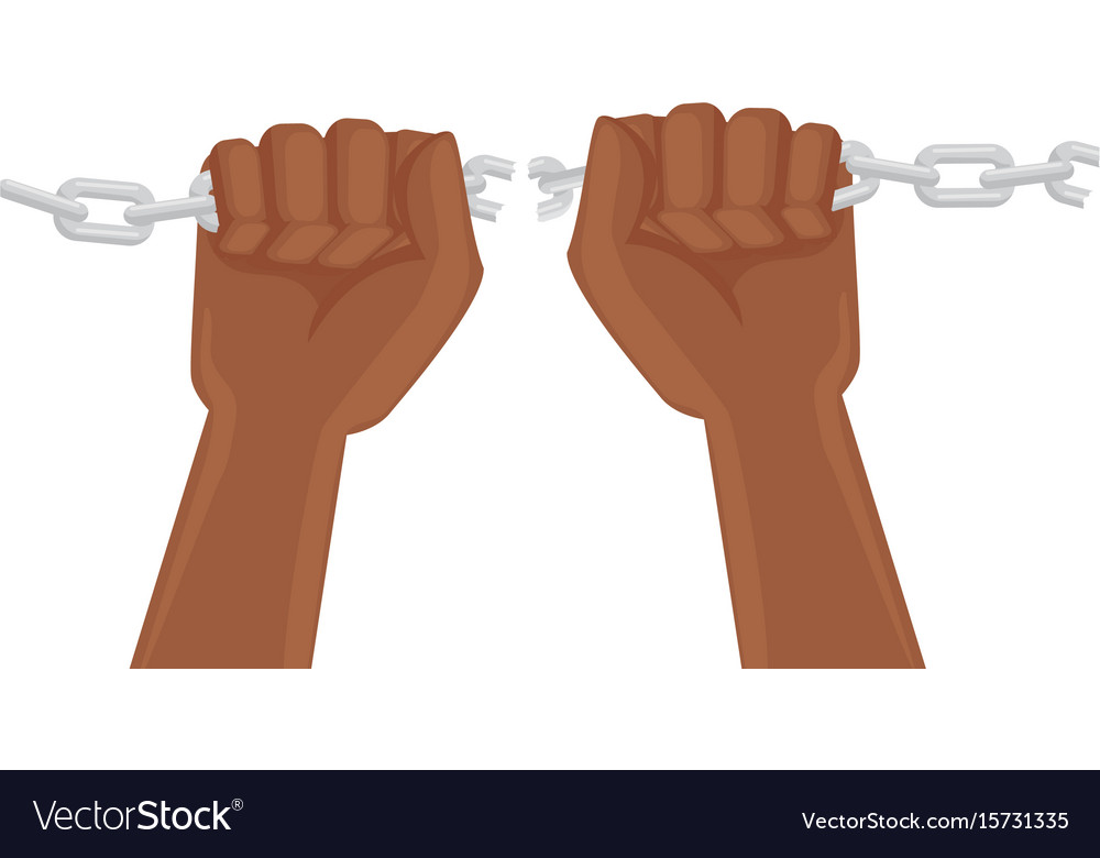 hand grabbing a chain icon royalty free vector image