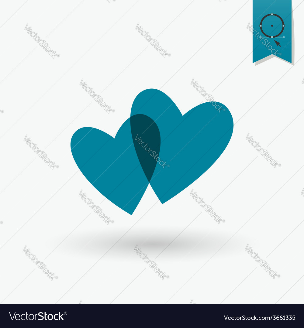 Happy Valentines Day Icon vector image