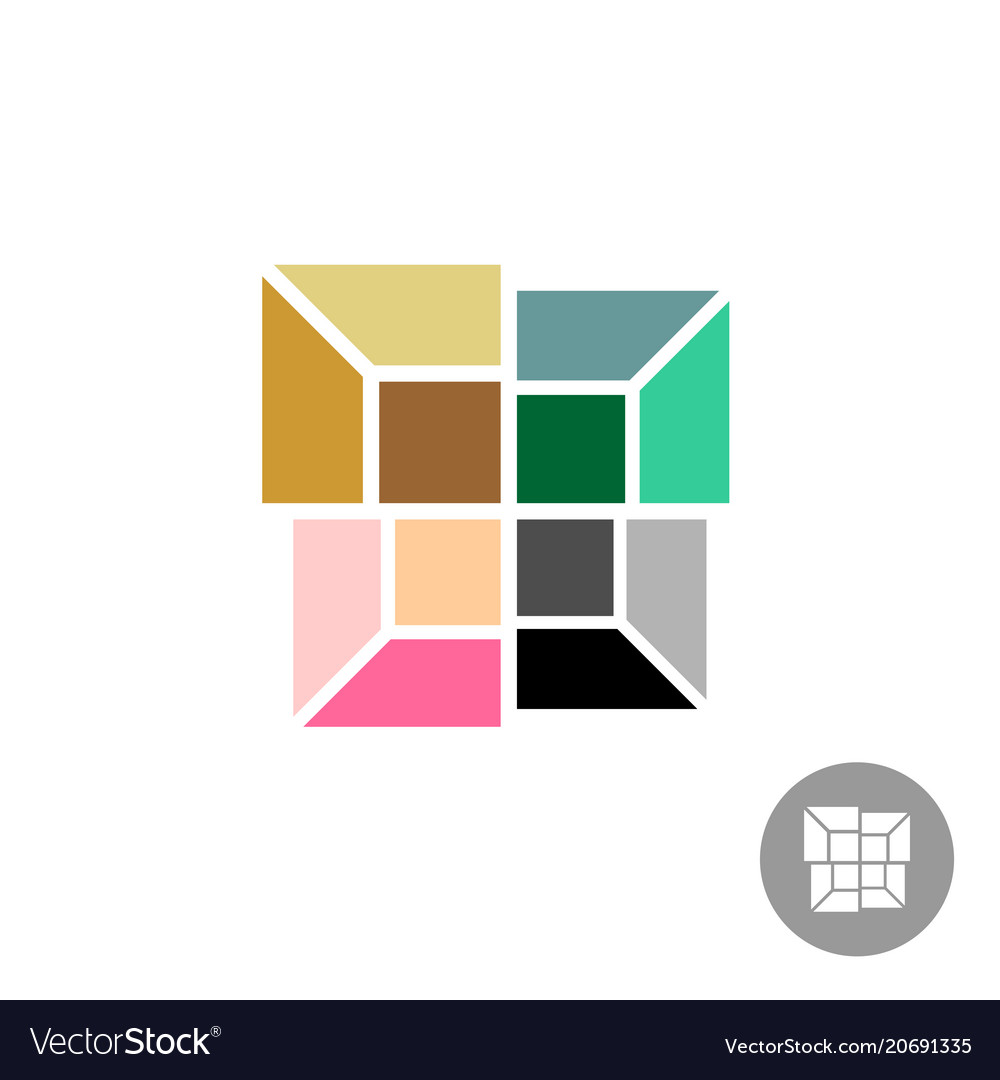 Interior designs logo different color rooms