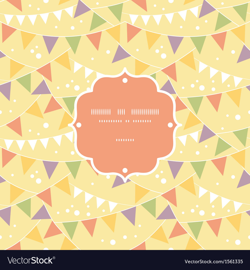 Party decorations bunting frame seamless pattern
