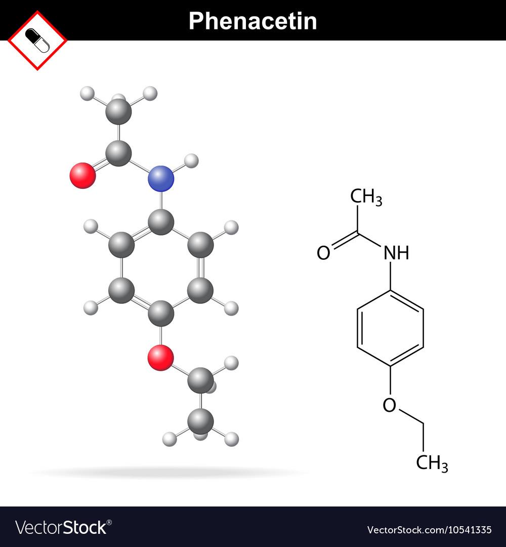Phenacetin structural chemical formula