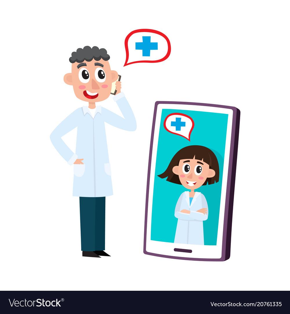 Remote medical assistance set with doctors