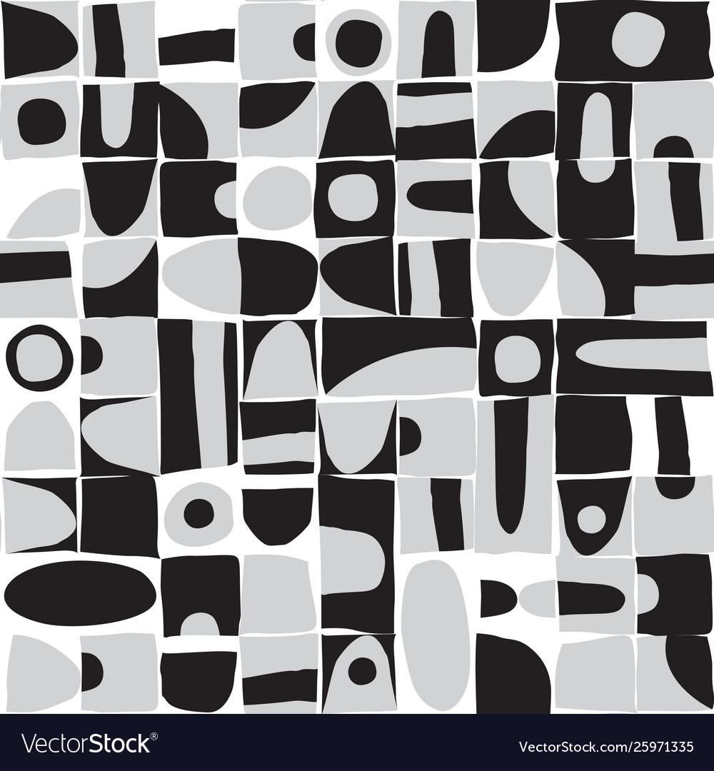 Sloppy geometric shapes seamless pattern