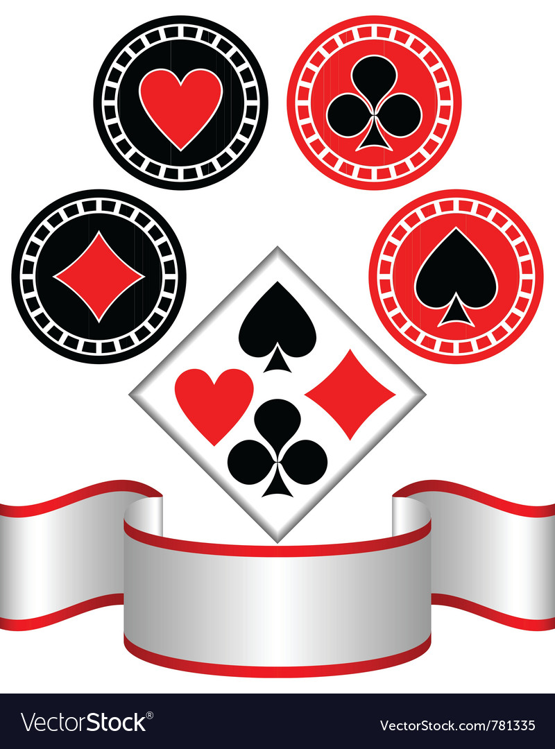 Symbols of playing cards vector image