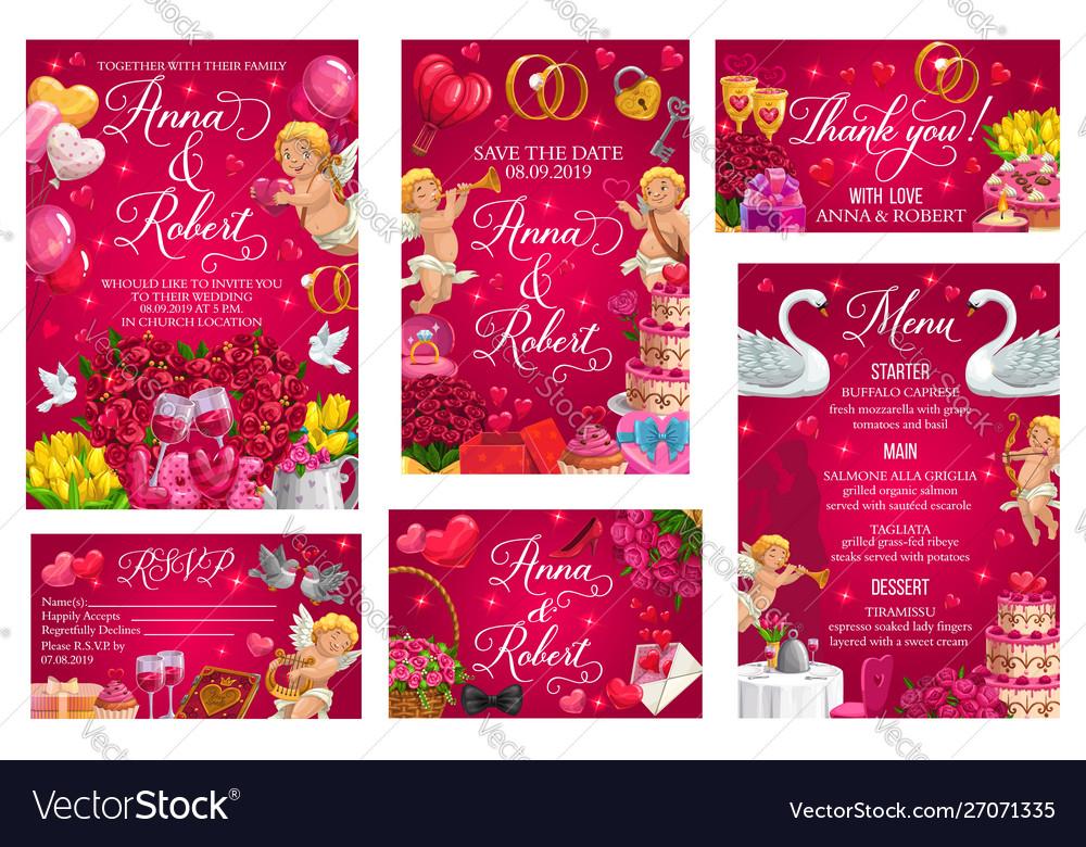 Wedding ceremony invitation rsvp card