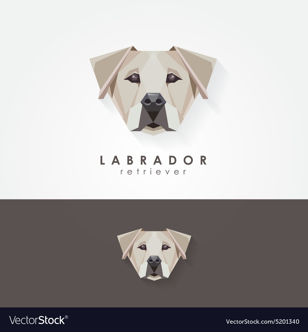 3d origami low polygon dog