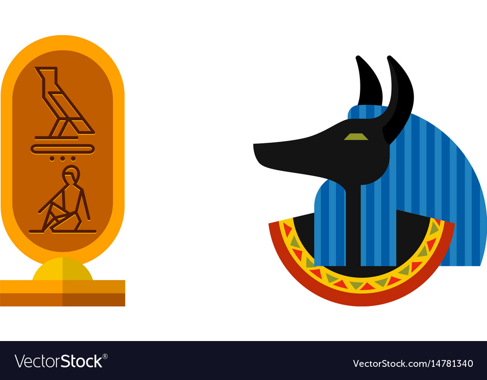 Anubis icon isolated on white background ancient
