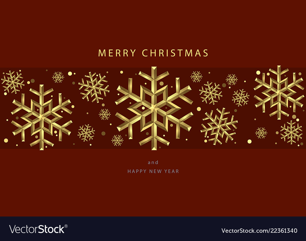 Christmas backgrounds with gold snowflakes