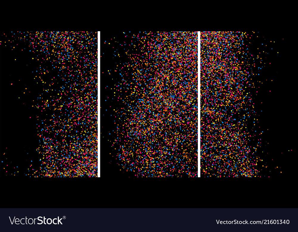 Colorful explosion of confetti colored grainy