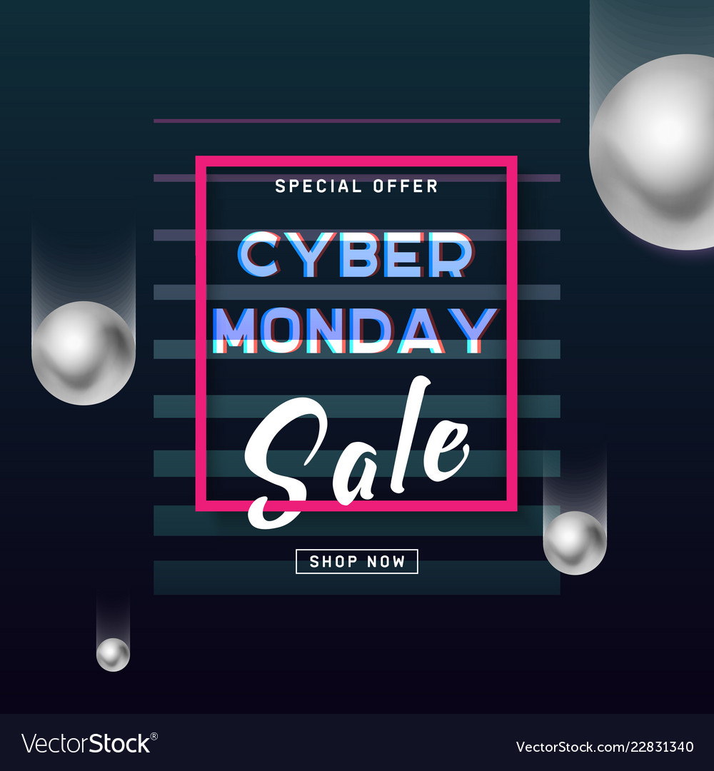 Cyber monday media concept banner business offer
