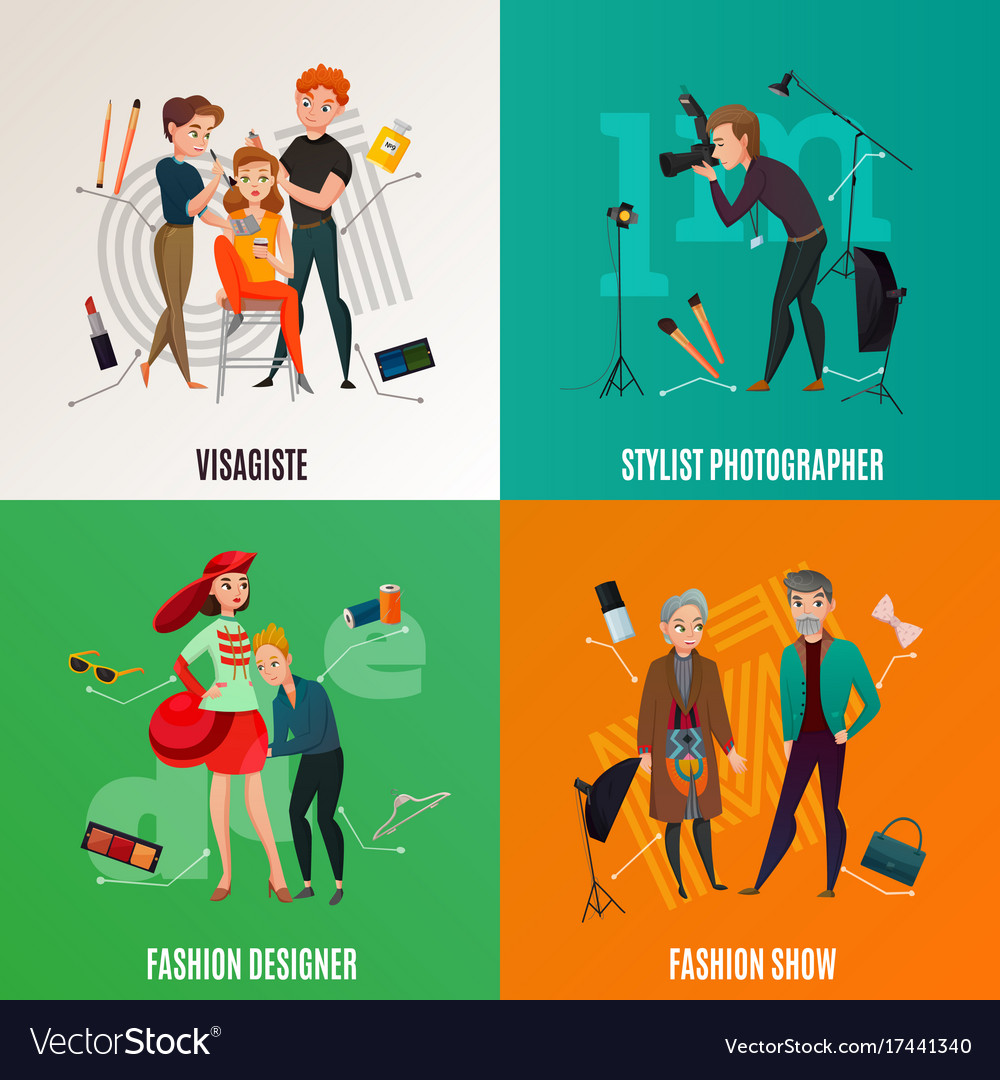 Fashion industry concept vector image