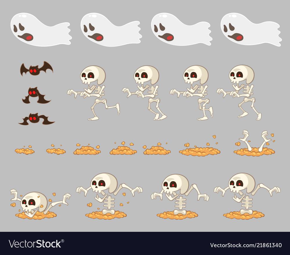 Ghost enemies game sprites