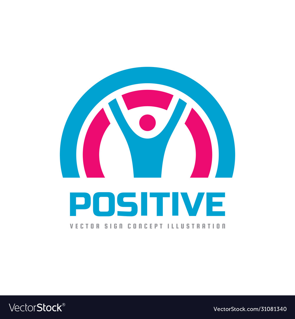 Positive - business logo template concept