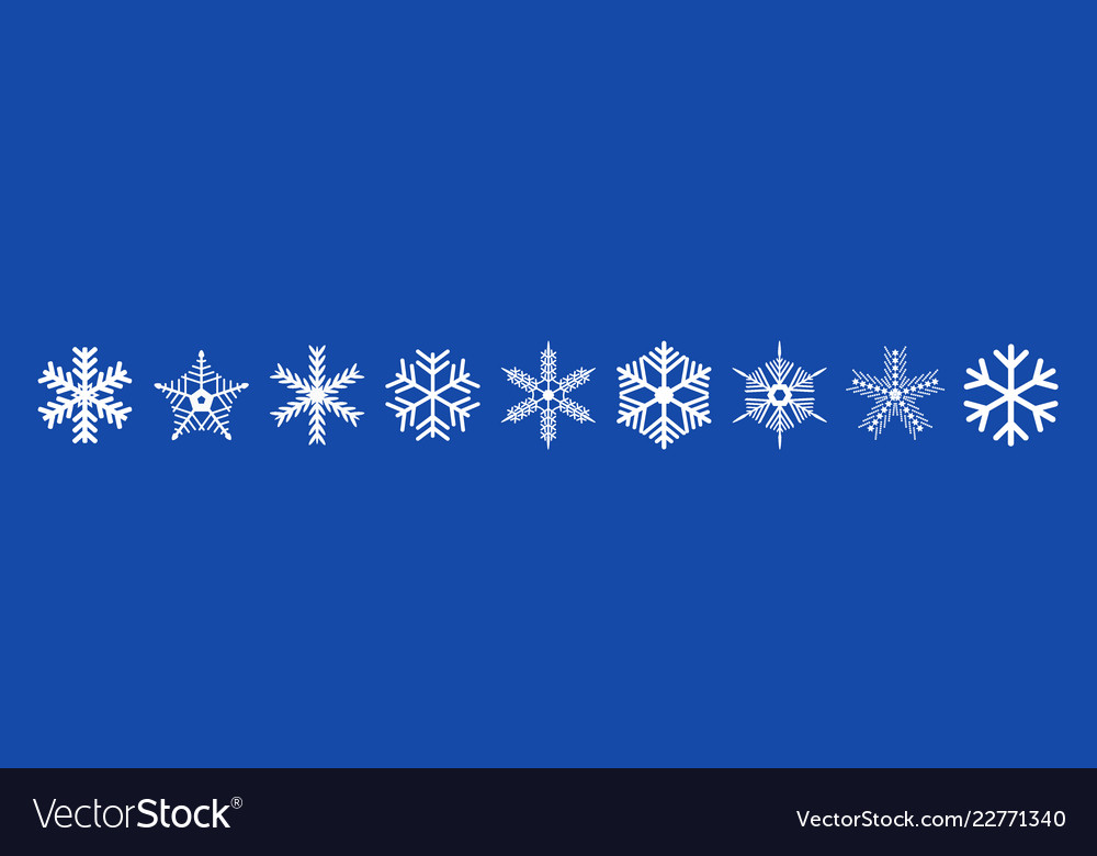 Set of christmas decorated snowflakes
