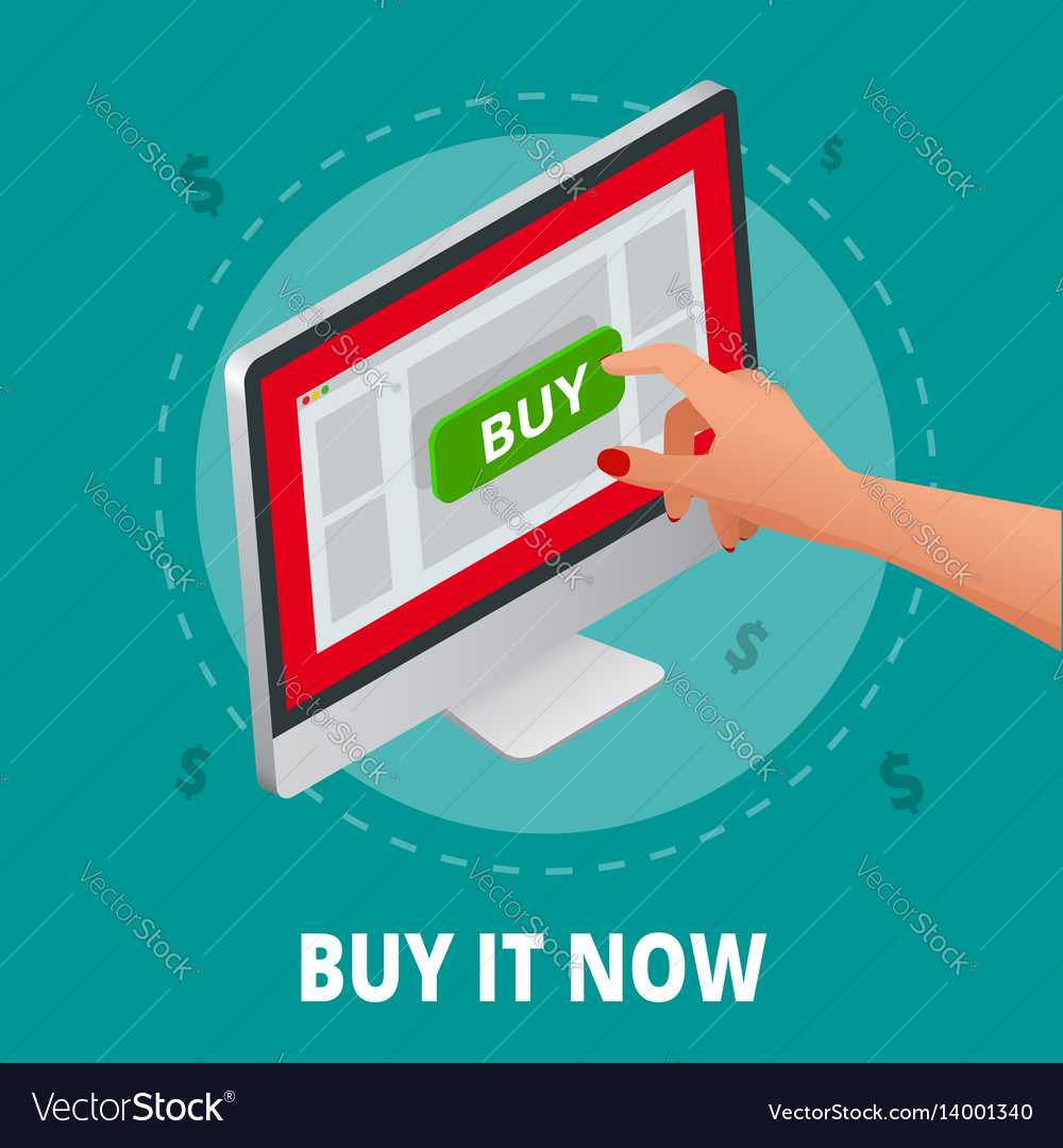 Silver open laptop with and screen buy concept vector image