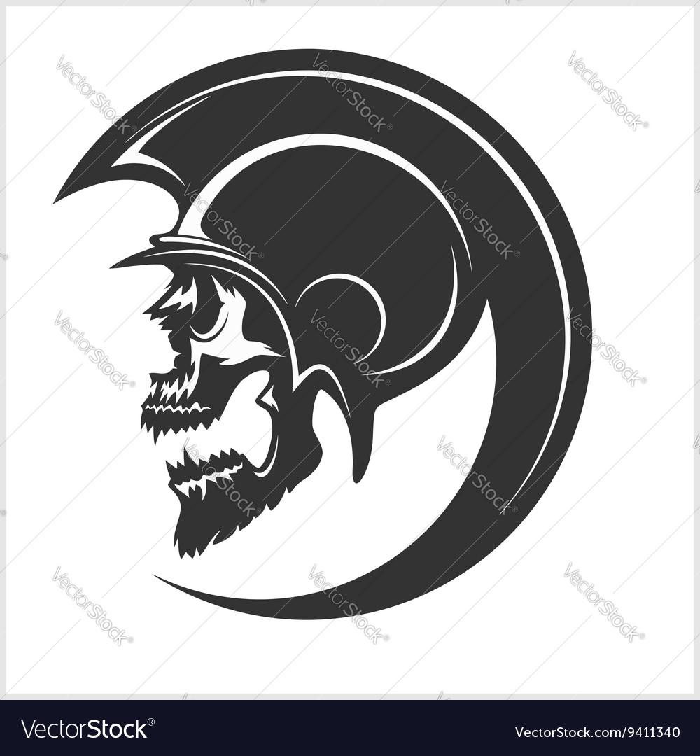 Spartan Skull and Helmet silhouette