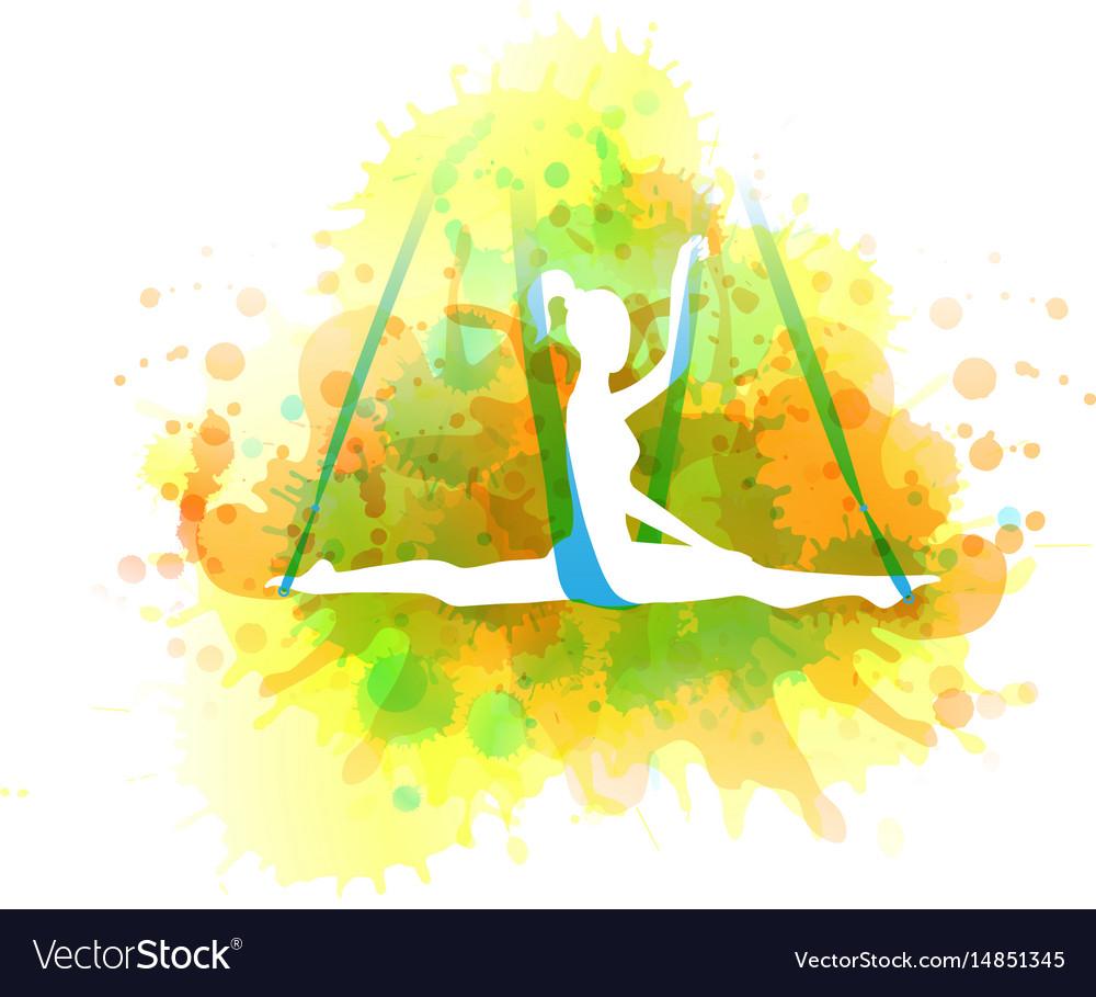 Aero yoga watercolor
