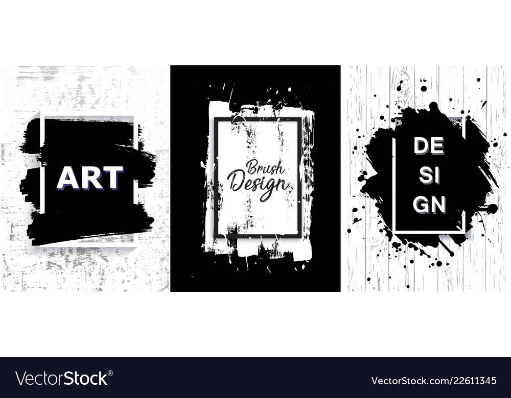 Black paint ink brush stroke texture