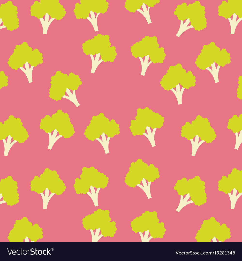Broccoli vegetable food seamless pattern