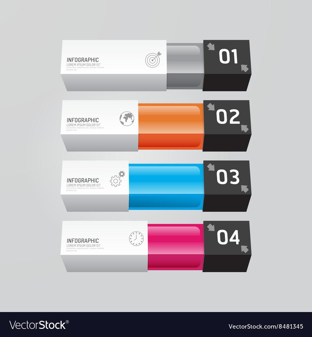 Infographic template Modern box Design Minimal