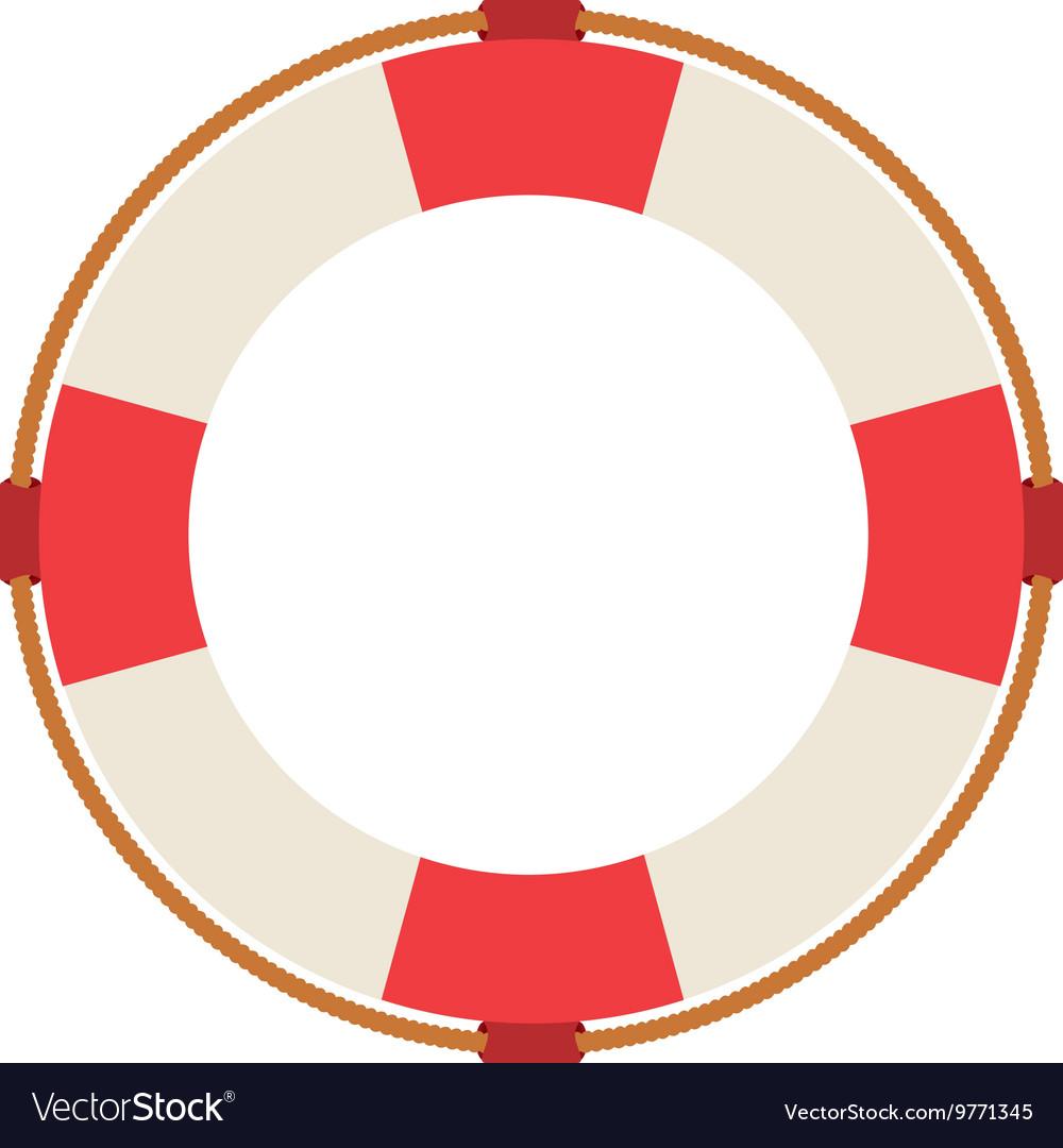 Lifeguard float isolated icon design