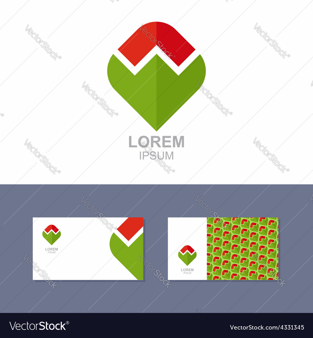 Logo Icon design element with business card