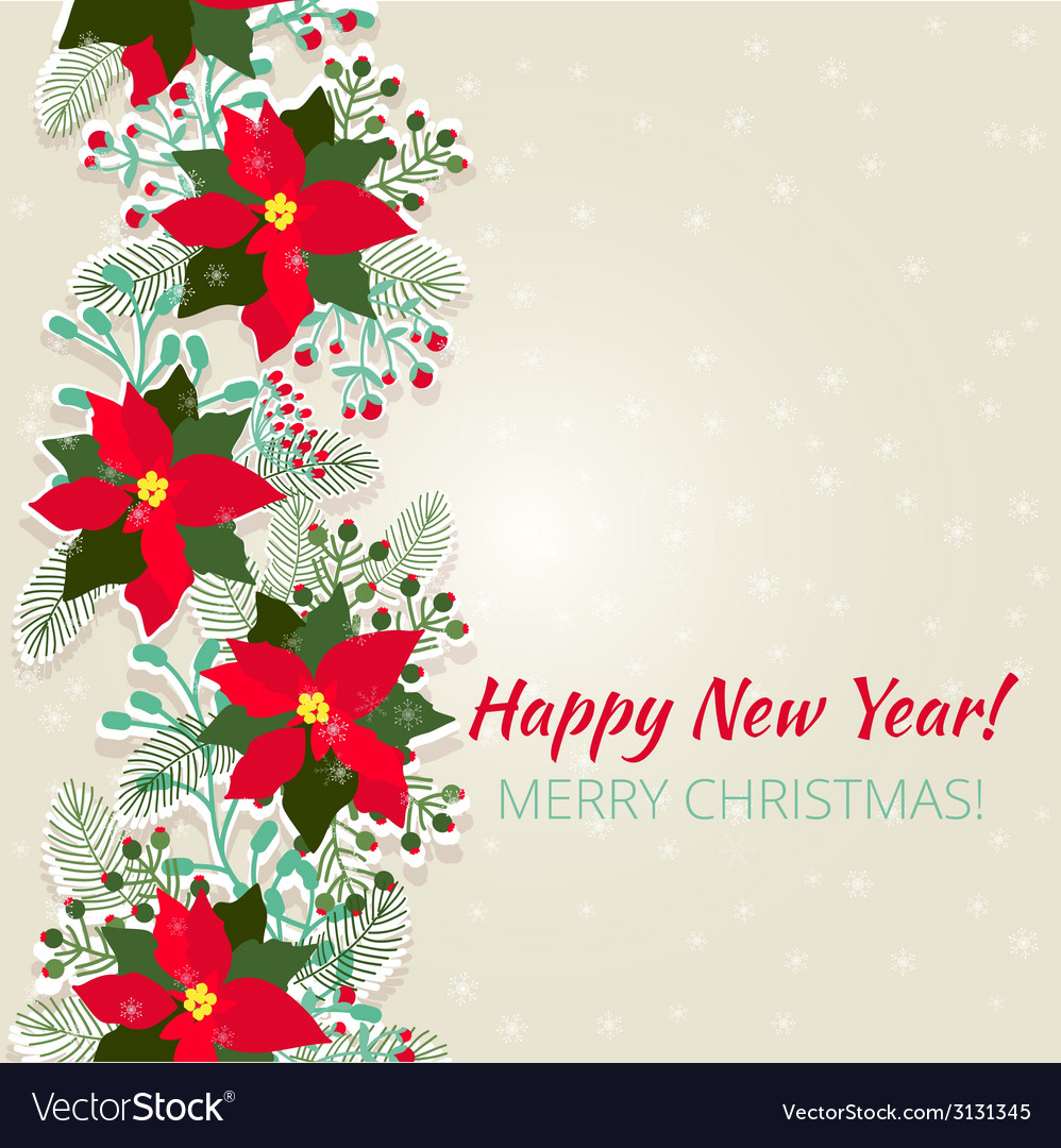 Merry Christmas and Happy New Year Card Royalty Free Vector