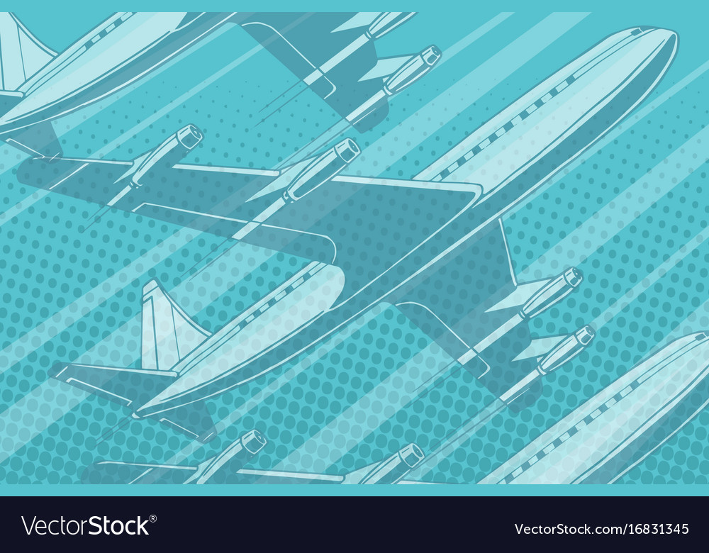 Modern aircraft in the sky travel background