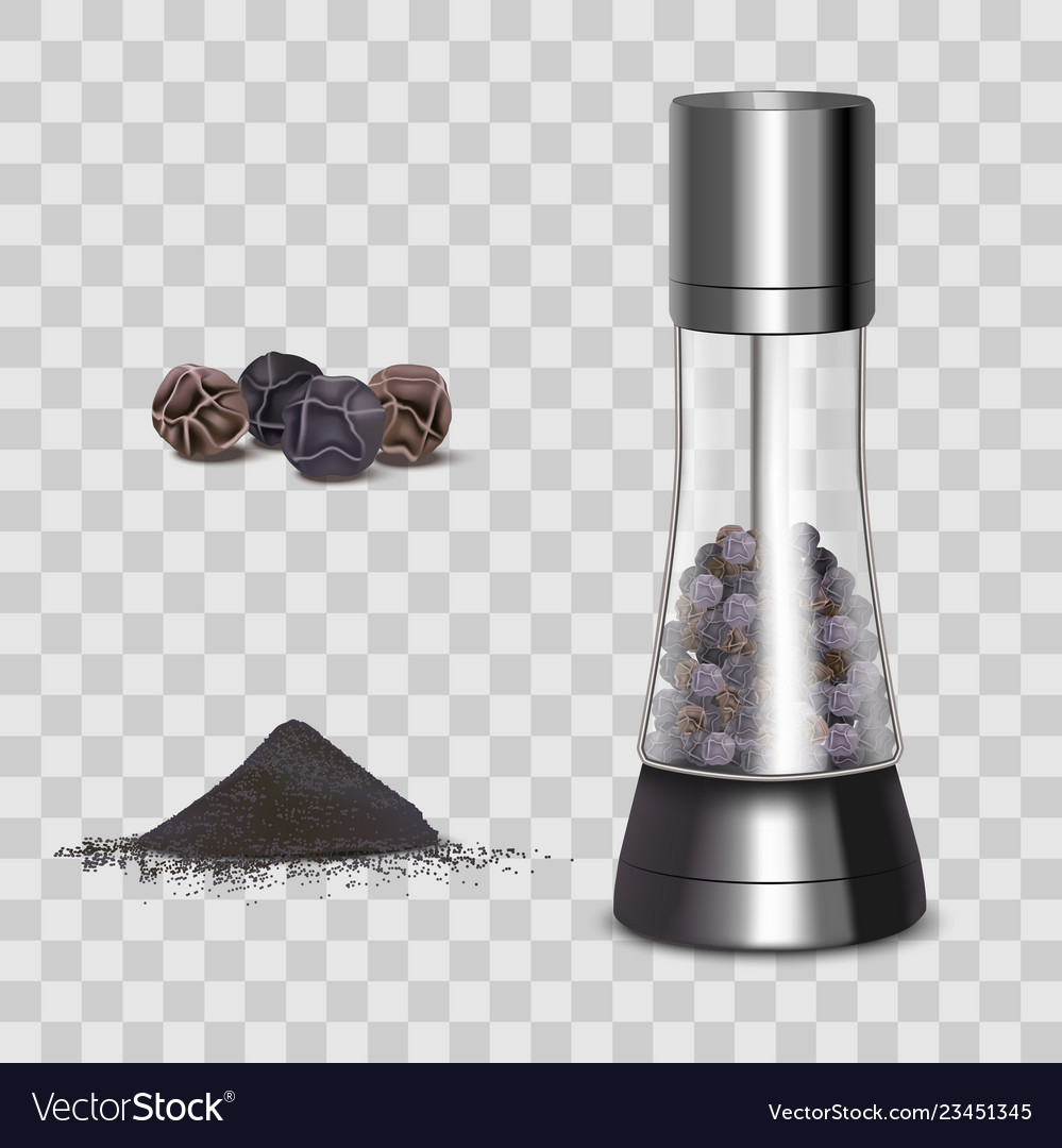 Realistic 3d detailed spice mills and elements