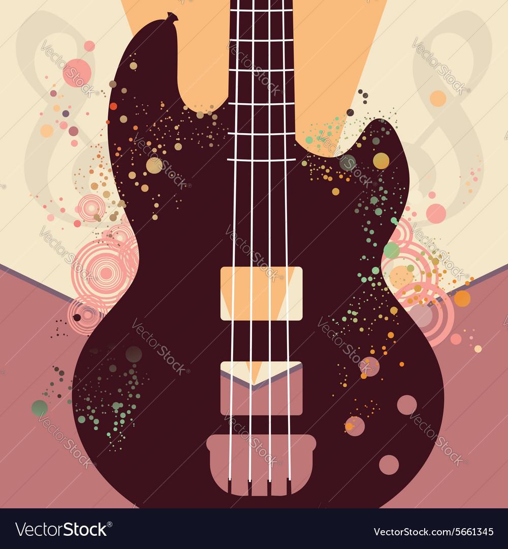 Retro Guitar Poster3