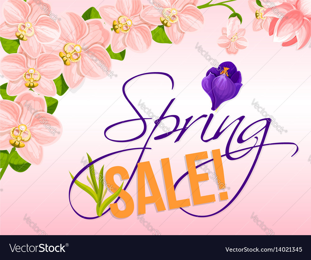Sale Poster For Spring Holiday Discount Royalty Free Vector