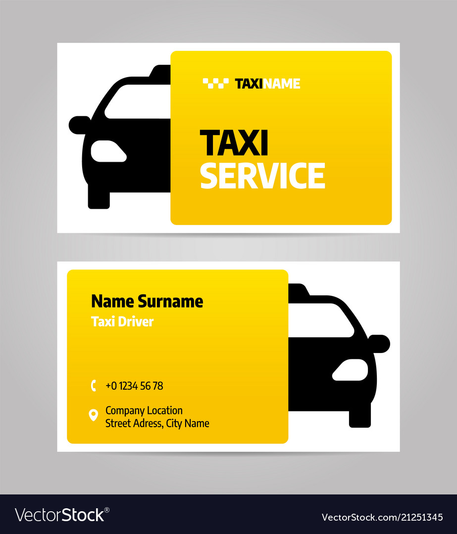 Taxi Business Or Visiting Card Royalty Free Vector Image