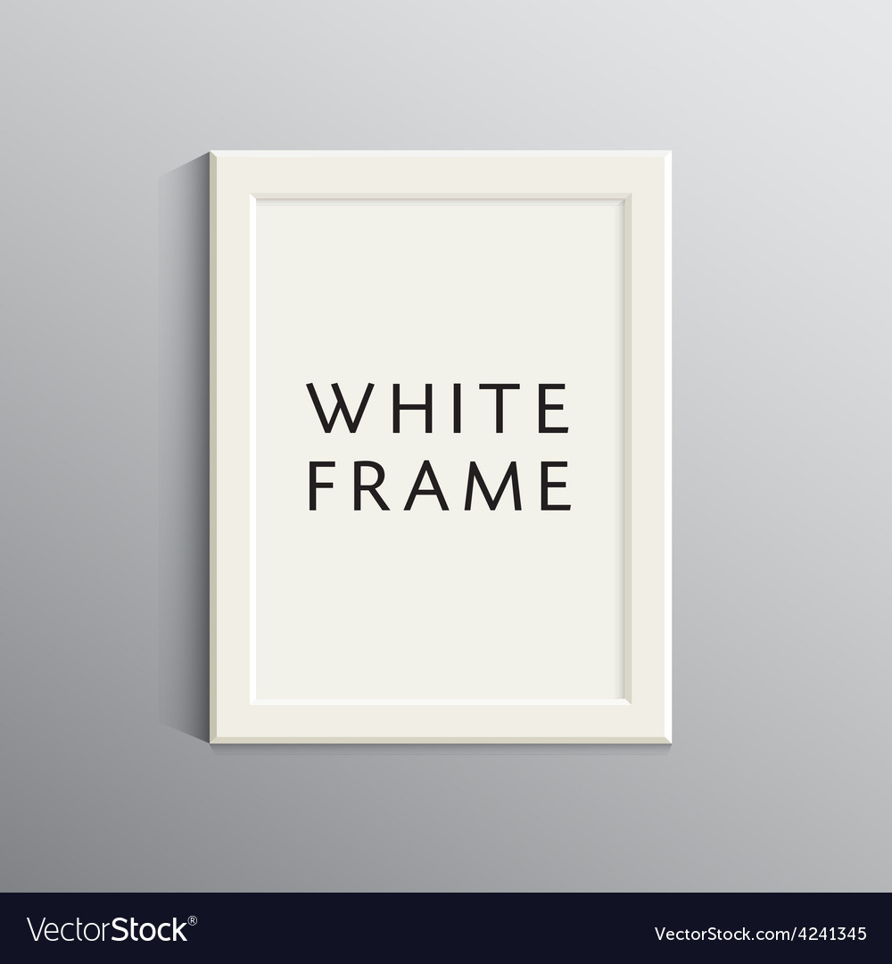 White 3d frame for A4 Royalty Free Vector Image