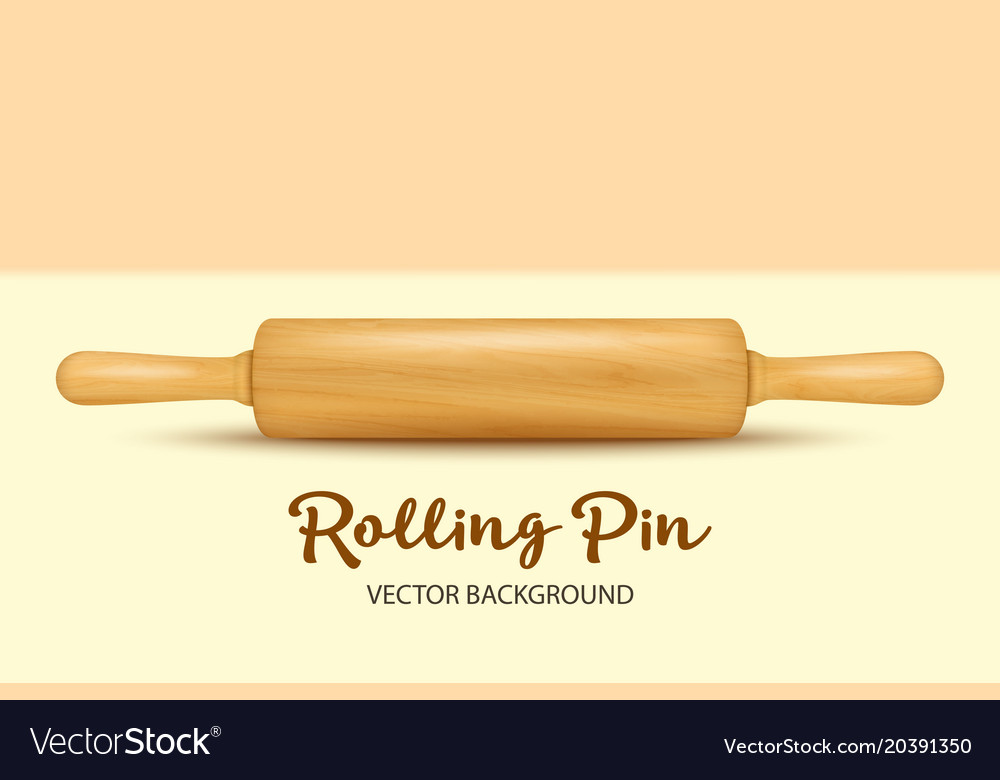 Background with realistic 3d wooden rolling