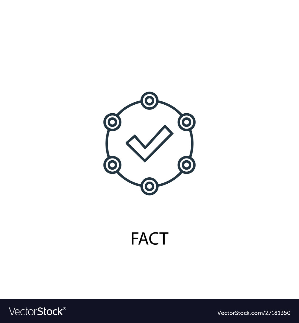 Fact concept line icon simple element