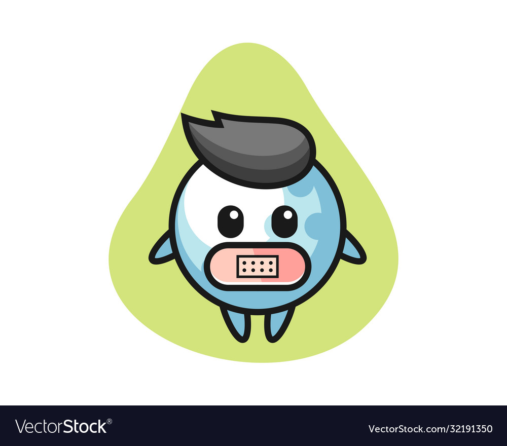 Golf Cartoon With Tape On Mouth Royalty Free Vector Image