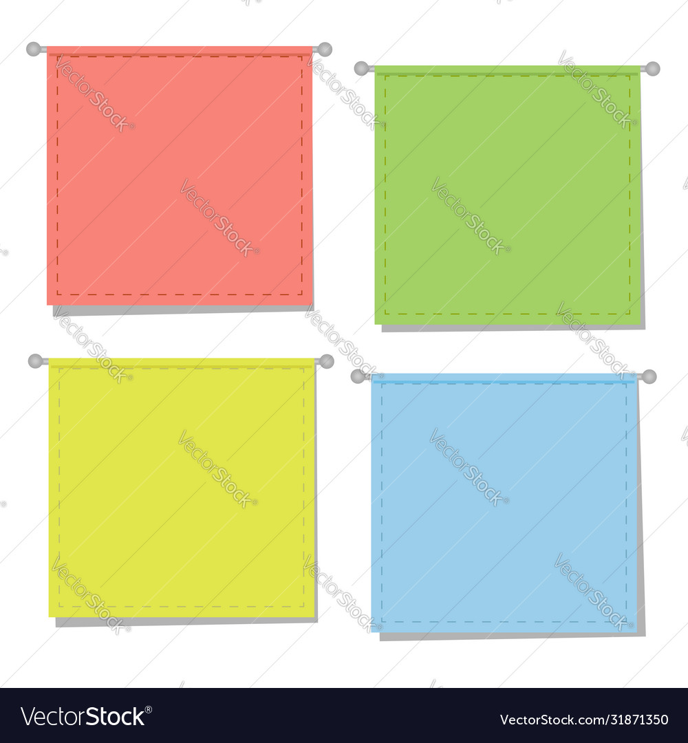 Hanging colored paper signs