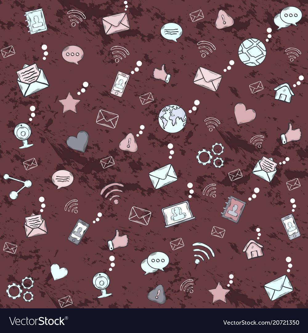 Social network seamless pattern