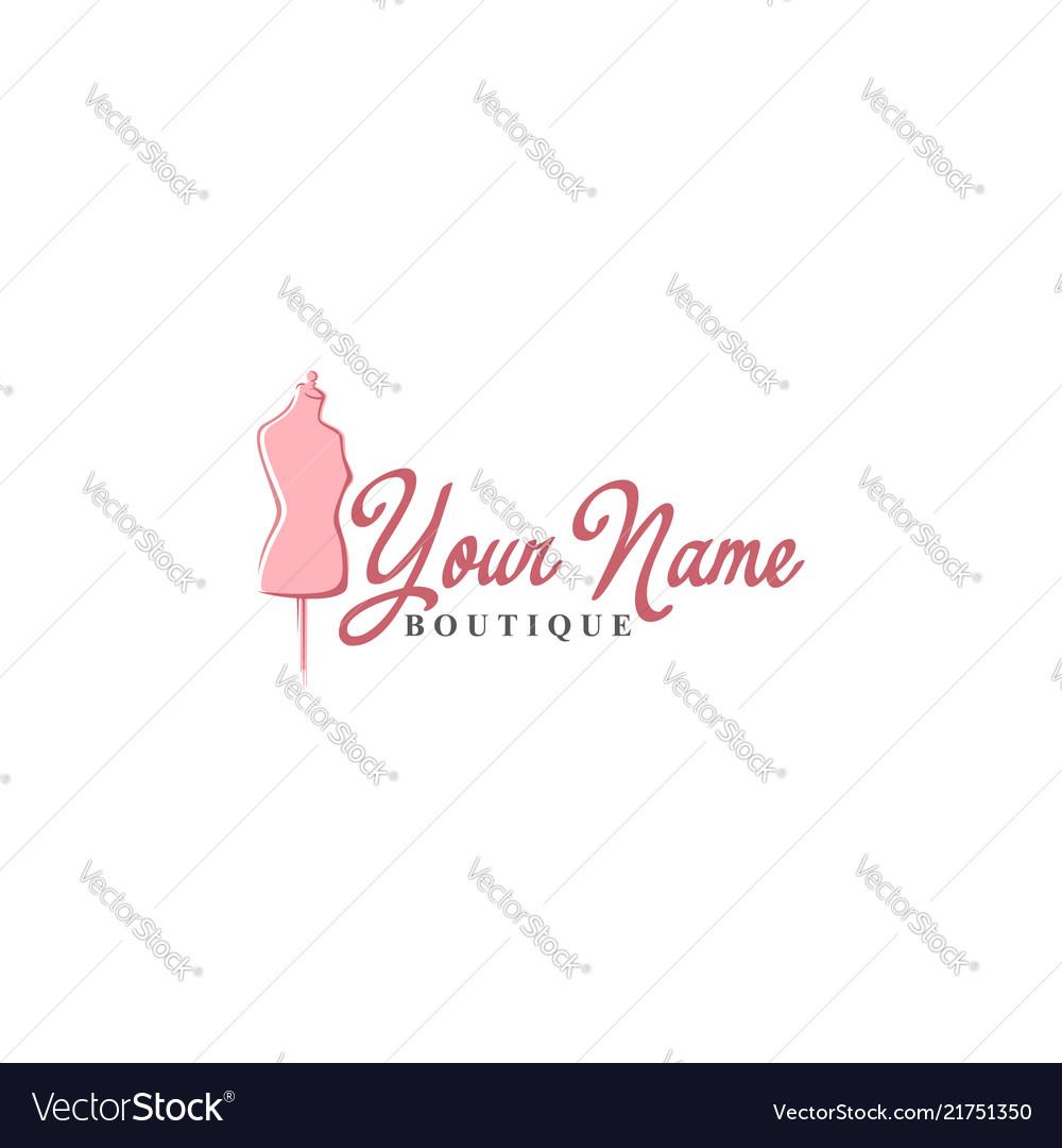 Tailor mannequin vintage fashion retro logo