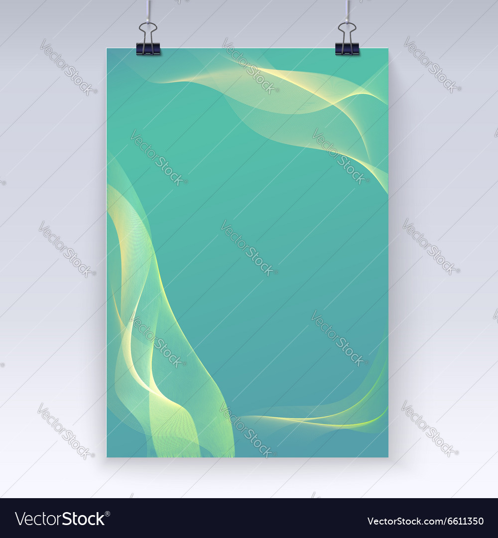 Wavy flowing poster template