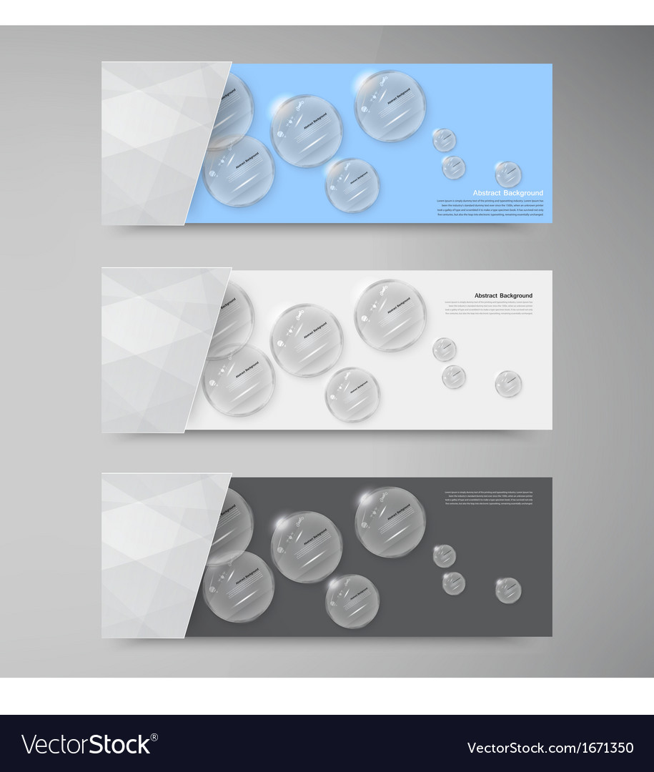 White circle glass Abstract background
