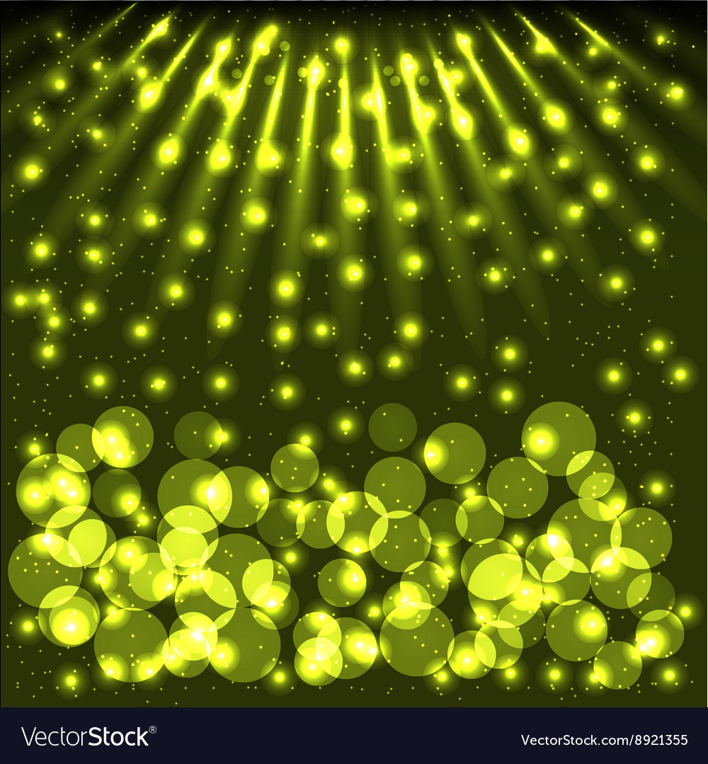 Abstract bokeh background with shining particles