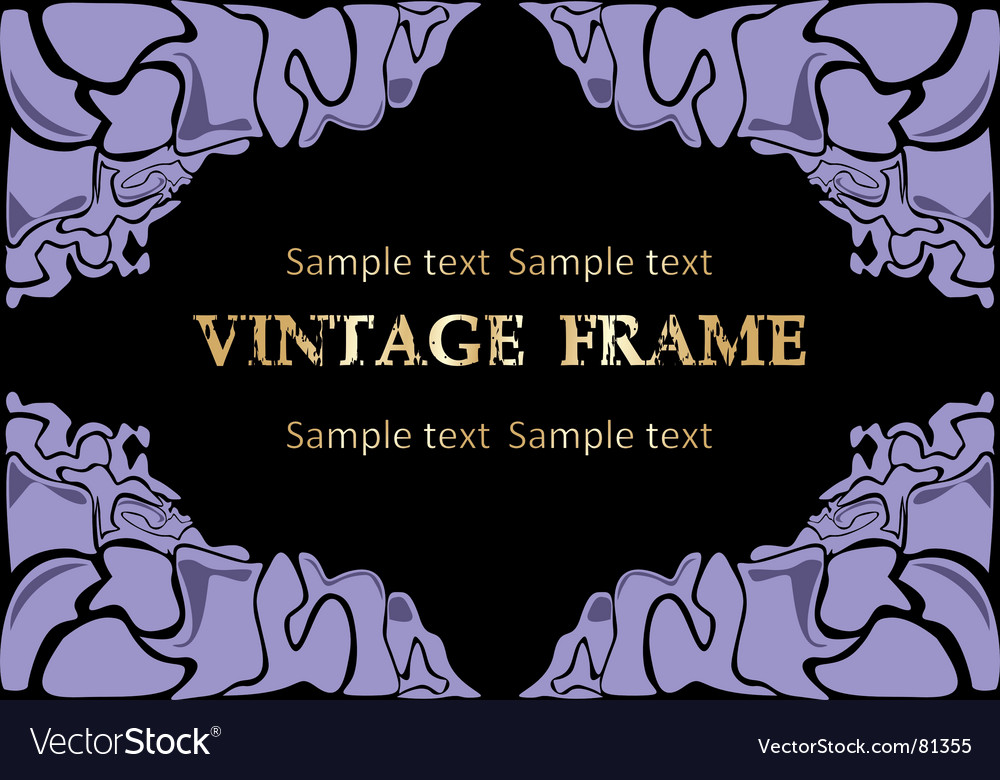 Abstract frame vector image