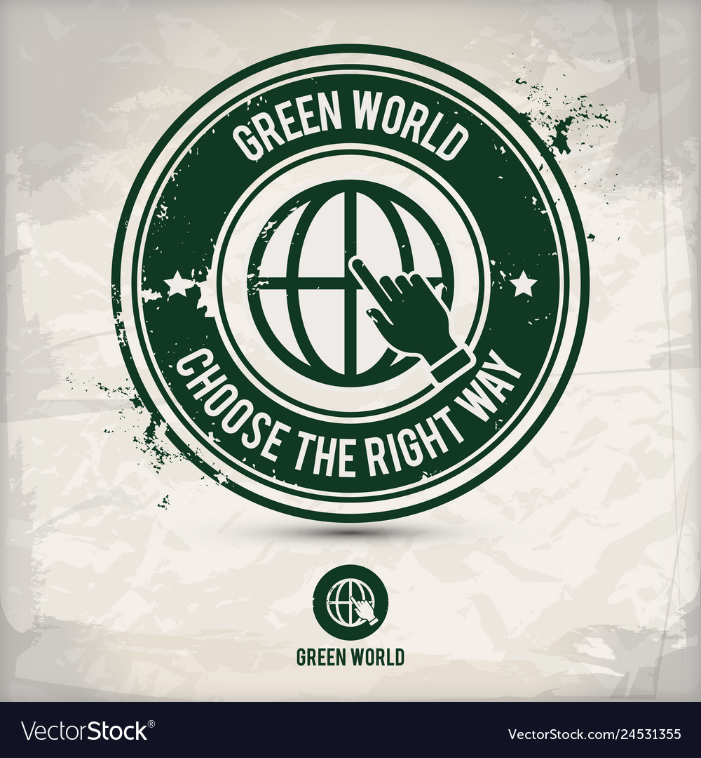Alternative green world stamp