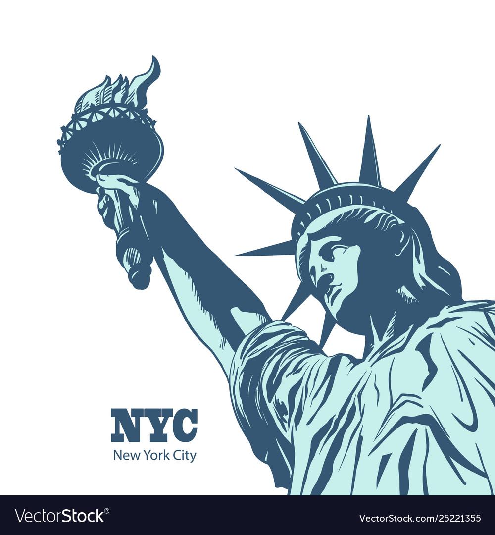 American symbol - statue liberty new york usa