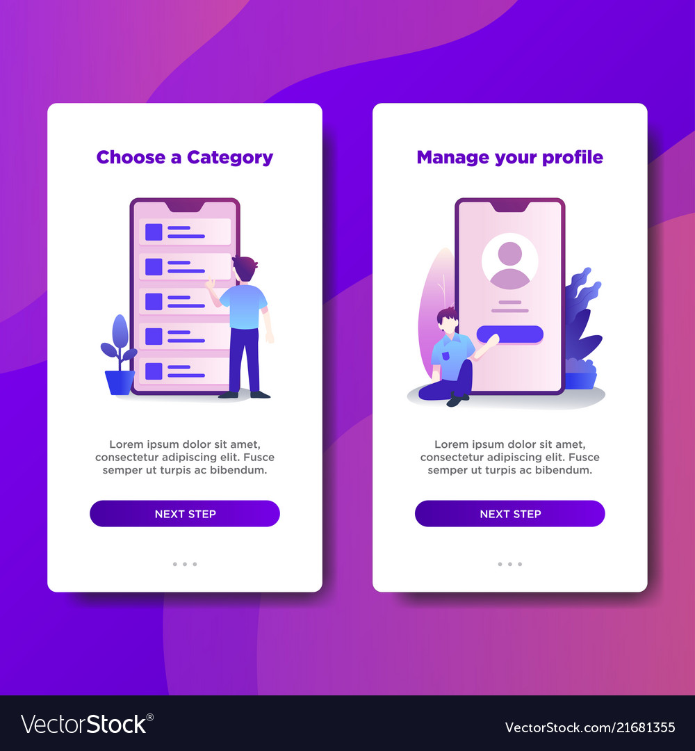 Page template of choose a category