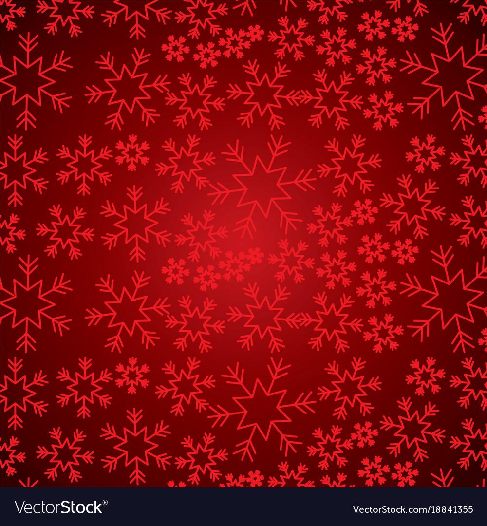Red snowflake winter decoration seamless christmas