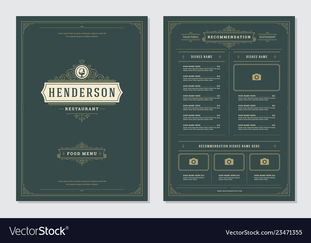 Restaurant menu design and logo brochure
