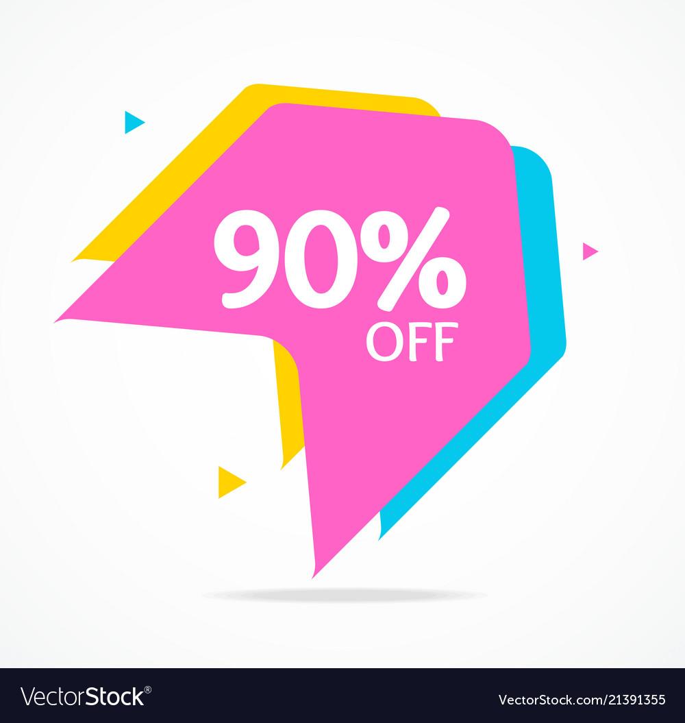 Sale banner sticker abstract geometric design